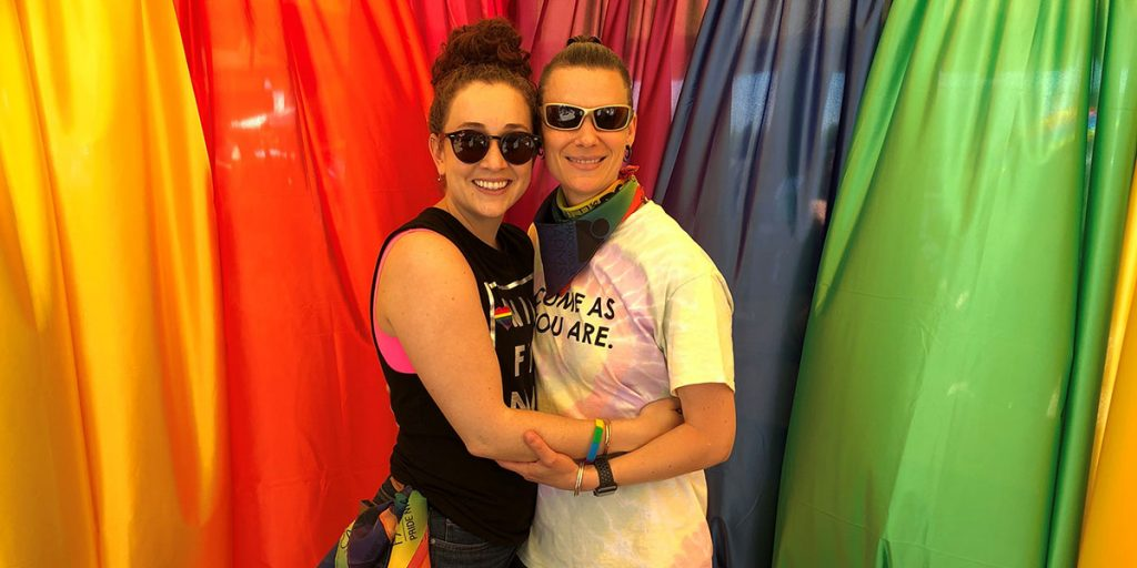 Malina Montenegro and AR Jackson at a past NUNM Pride event