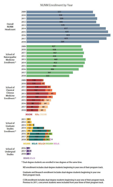 Enrollment by Year Chart